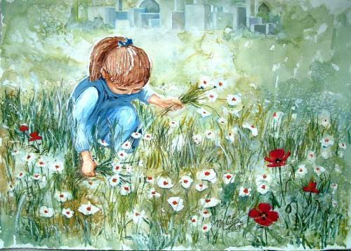 Risultati immagini per fiori e bambini